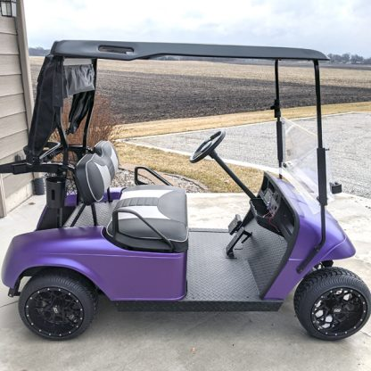 Matte Purple Metallic DIY golf cart wrap kit