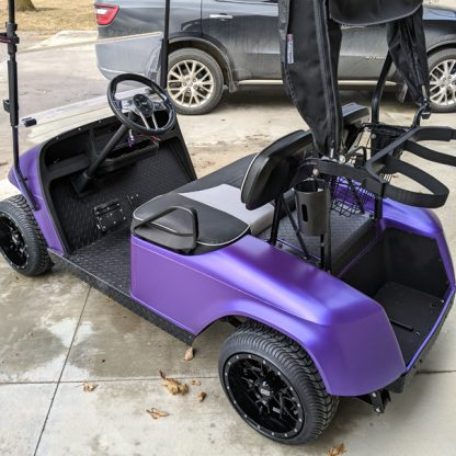 Matte Purple Metallic wrap kit for golf cars. Fits all standard size golf carts