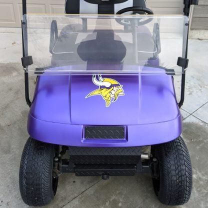 Matte Purple Metallic golf car full body wrap