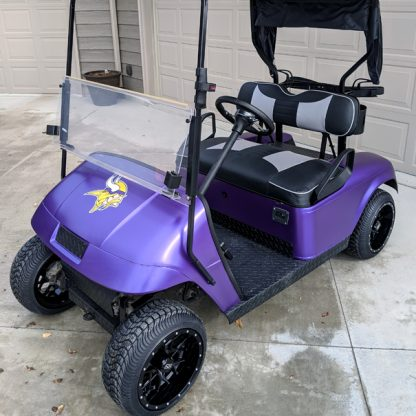 Matte Purple Metallic vinyl DIY golf cart wrap