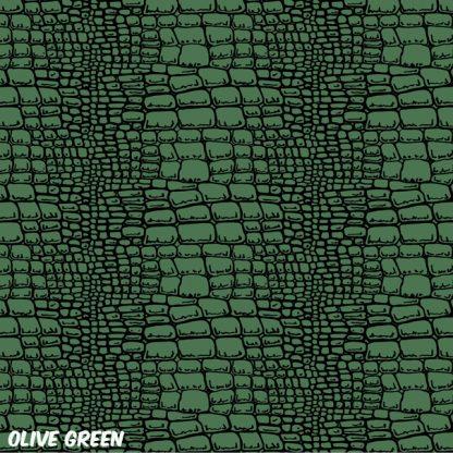 Alligator Skin Olive Green golf cart wrap pattern