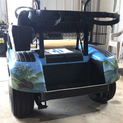 golf cart wrap Tropical-Beach-golf-car-wrap kit for all models.