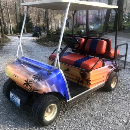 Hawaii-Sunset full body golf car wrap kit