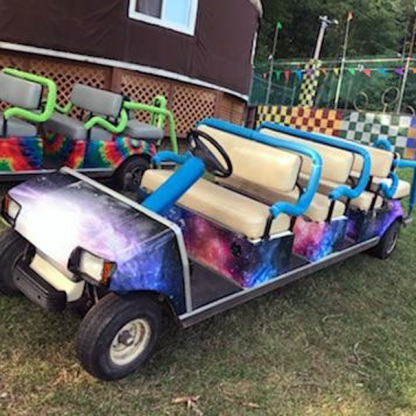 Galaxy Golf car wrap kit