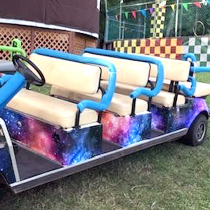 Galaxy Golf car wrap